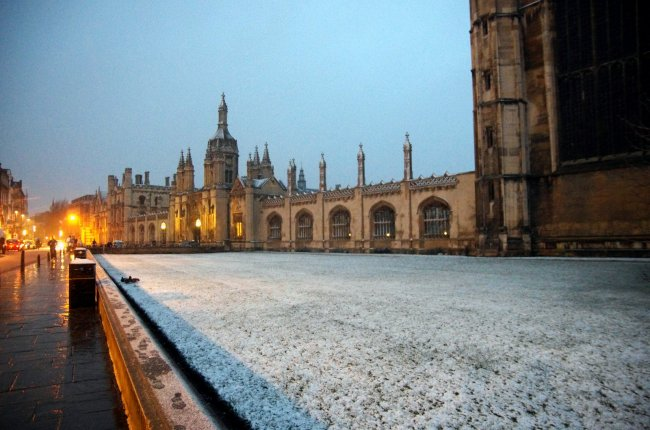 Kings College In The Snow