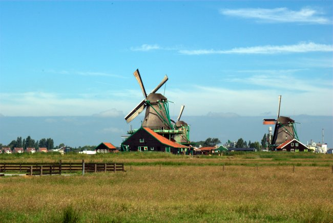 Windmills And A Blue Sky