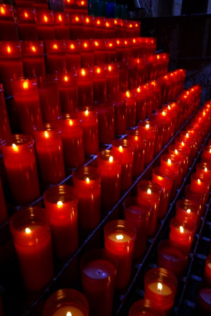 Candles At Montserrat
