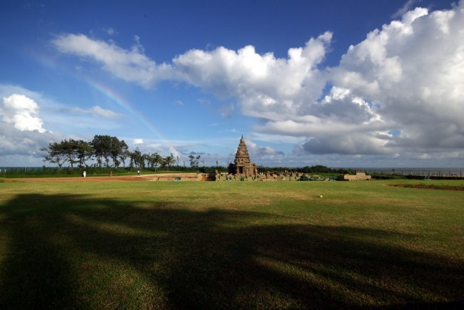 Shore Temple & A Rainbow
